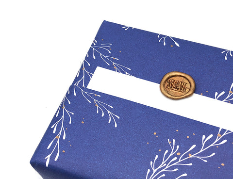 seal wax seal on note cards - gift wrapping idea for christmas