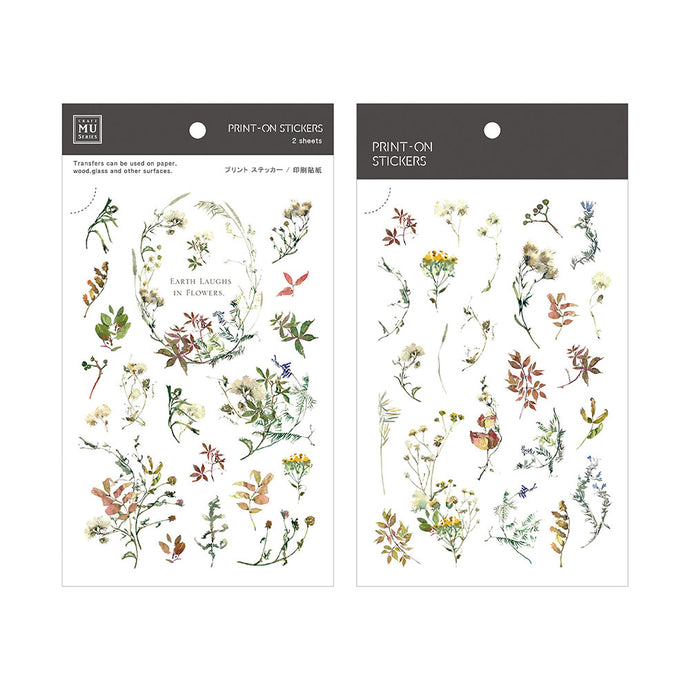 Wild Flowers Transfer Sticker - MU