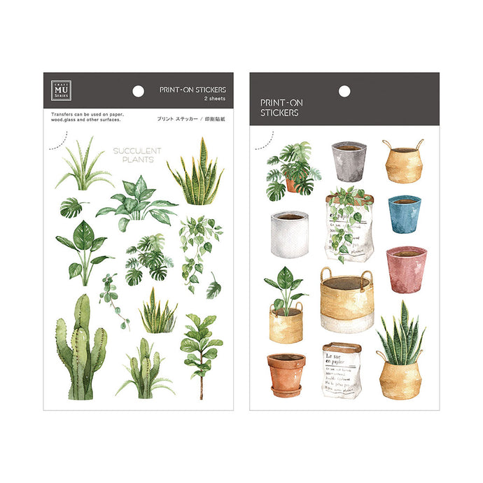 Plant Shop Transfer Sticker - MU