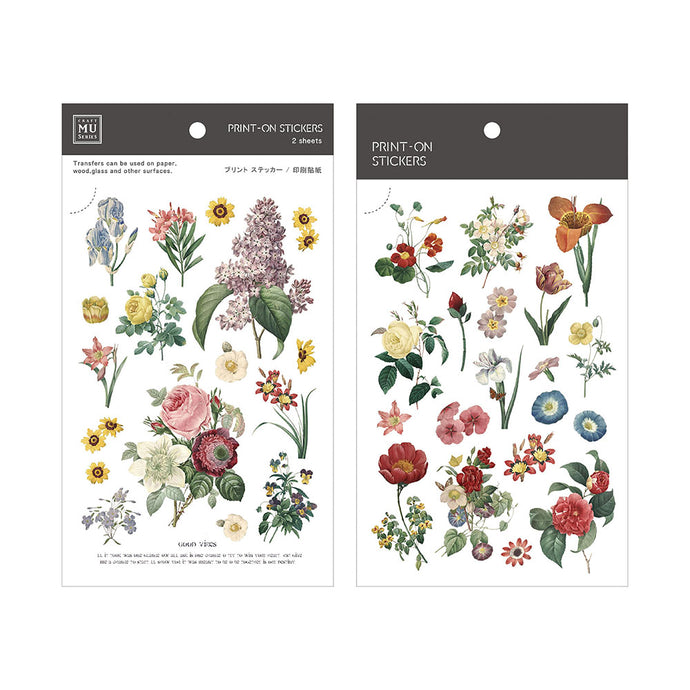 Botanical Illustration Transfer Sticker - MU