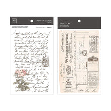 Load image into Gallery viewer, Antique Manuscript Transfer Sticker - MU