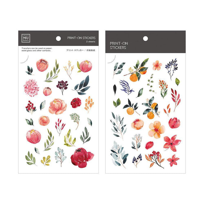 Summer Fruit and Flower Transfer Sticker - MU