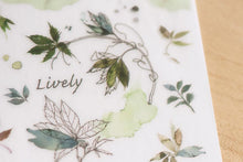 Load image into Gallery viewer, Watercolor Leaves Transfer Sticker - MU