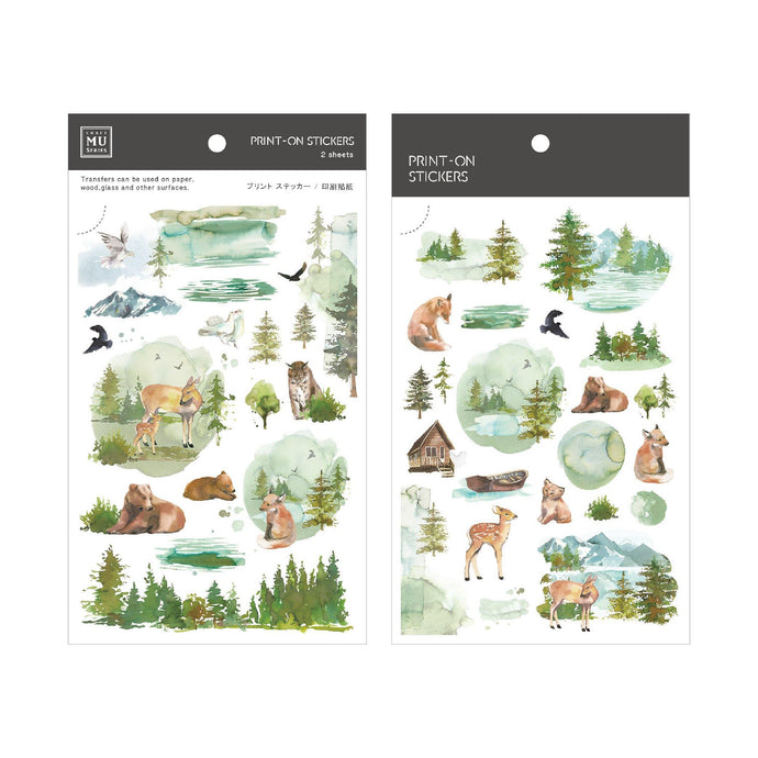 Woodland Friends Transfer Sticker - MU