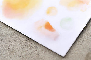 Watercolor Paint Transfer Sticker - MU
