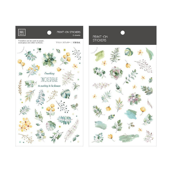 Watercolor Plants Transfer Sticker - MU