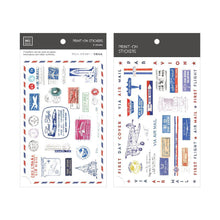 Load image into Gallery viewer, Air Mail Stamps Transfer Sticker - MU