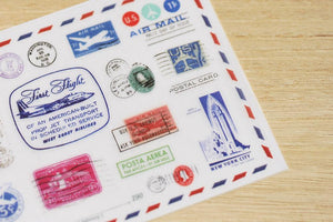 Air Mail Stamps Transfer Sticker - MU