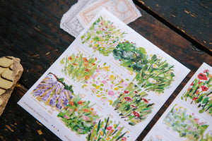 Blooming Spring Postal Sticker Pack - OURS