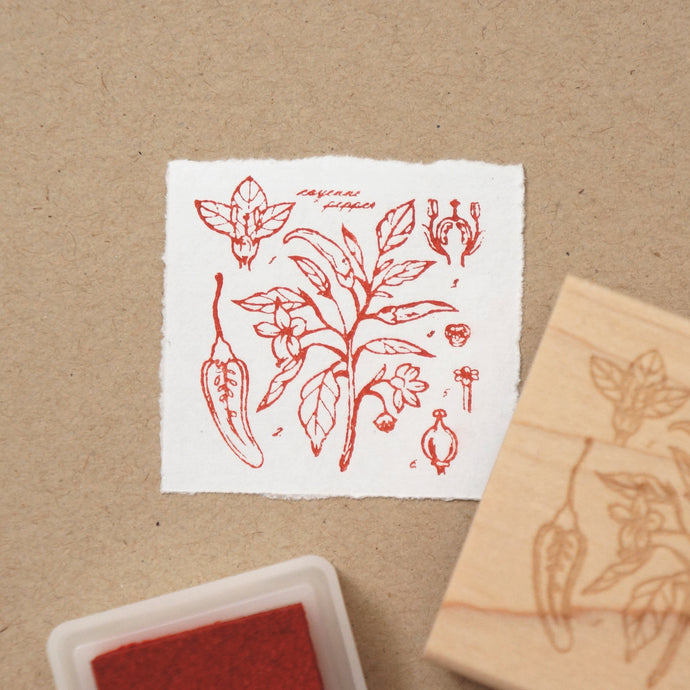 Cayenne Pepper Rubber Stamp
