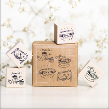 Load image into Gallery viewer, Foxy Daily Deco Rubber Stamp Set - Hello Studio