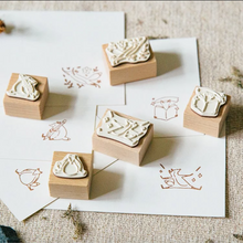 Load image into Gallery viewer, Hello Foxy Rubber Stamp Set - Hello Studio