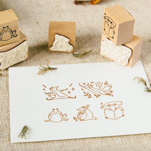 Hello Foxy Rubber Stamp Set - Hello Studio