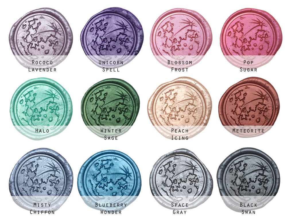 Soft Shimmering Colors - Custom Self Adhesive Wax Seal Stickers