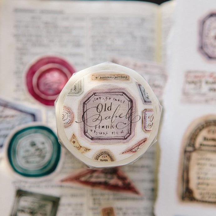 Antique Label Washi Tape - OURS