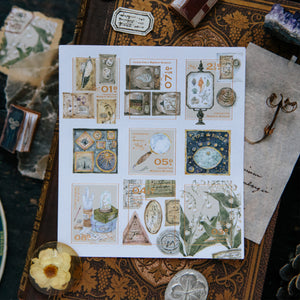 Collection of Museum Stamp Stickers - OURS