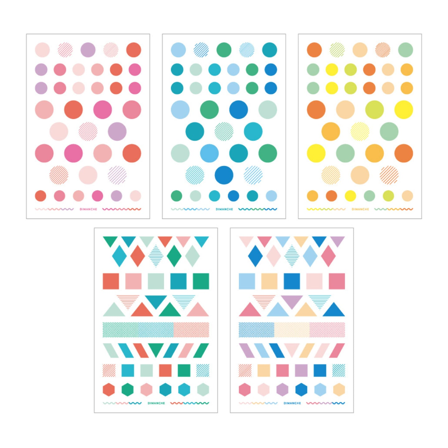 Geometric Transfer Sticker - Dimanche