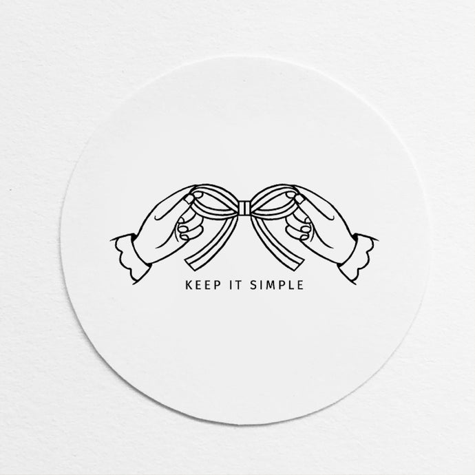 Keep It Simple Rubber Stamp