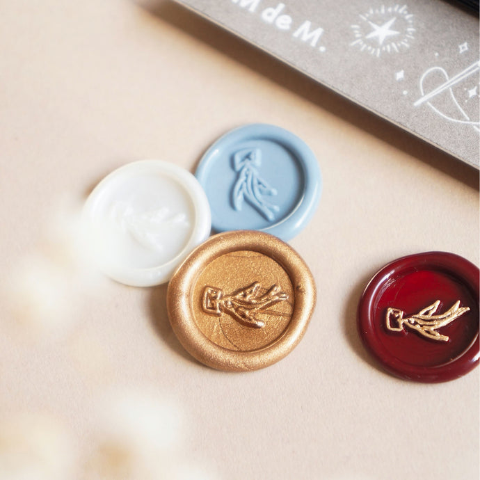 Mailer Bird Mini Wax Seal Sticker Set