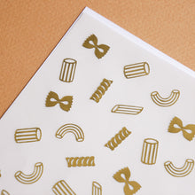 Load image into Gallery viewer, Pasta Shop Gold Foil Sticker Sheet