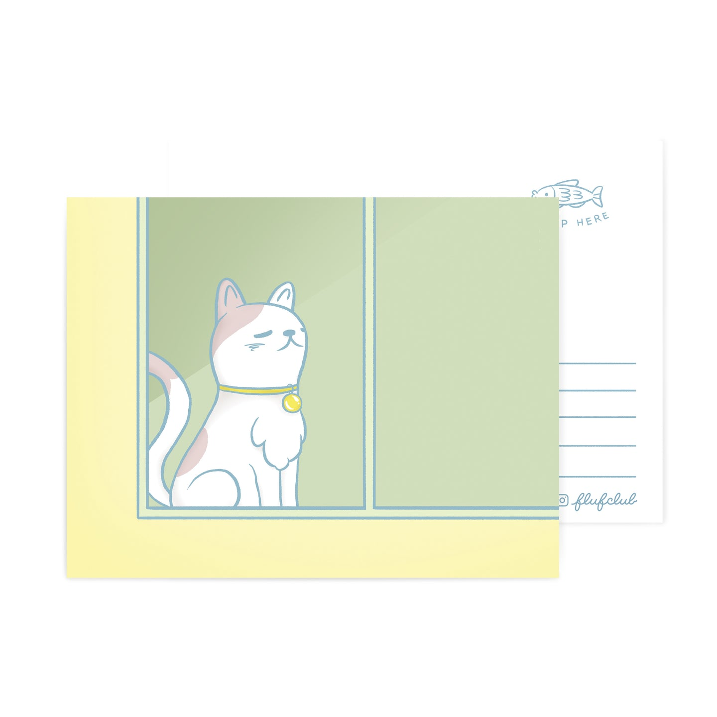 Sunbathing Cat Postcard