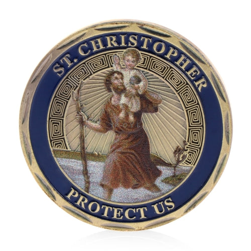 St. Christopher Patron Saint Of Travelers Commemorative Challenge Coin Collection