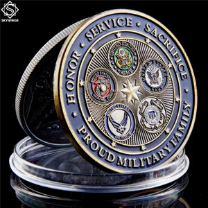 Proud Military Family Armed Forces Coin
