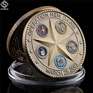 2003 Operation New Dawn Saint George Commemorative Challenge Coin Collection Souvenir