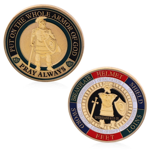'Put On The Whole Armor Of God' Commemorative Challenge Coin