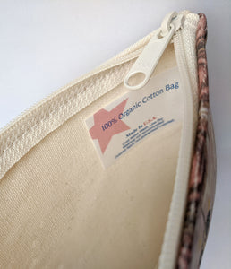 The Roaring 20s Zipper Pouch - 100% Organic Cotton!
