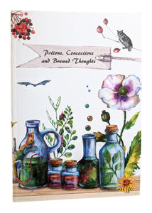 Pocket Notebook, Potions, Concoctions and Brewed Thoughts - recycled paper cover