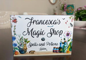 PERSONALIZED Panel - Magic Shop, Spells and Potions - with YOUR name