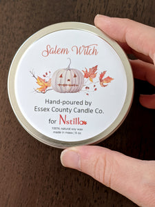 SALEM WITCH CANDLE - Pumpkin Spice - by Essex County Candle Company