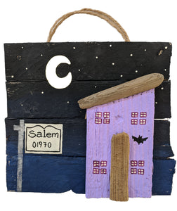 Salem Night sign - Driftwood, Handmade by FLOAT