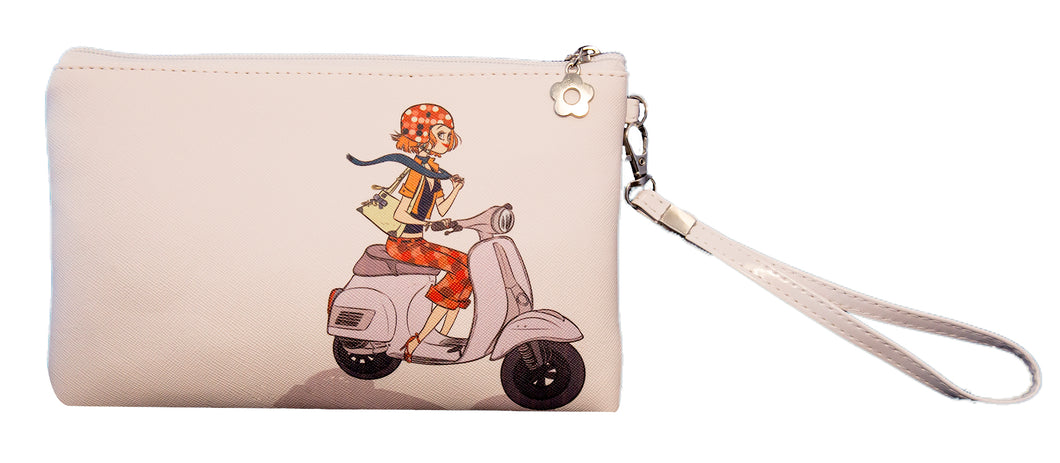 Scooter wristlet/pouch