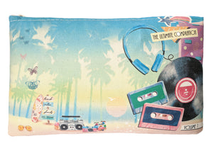 The Awesome 80s Zipper Pouch - 100% Organic Cotton! - SPRING OFFER!