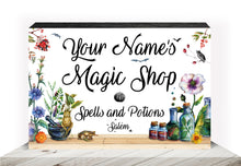 Load image into Gallery viewer, PERSONALIZED Panel - Magic Shop, Spells and Potions - with YOUR name