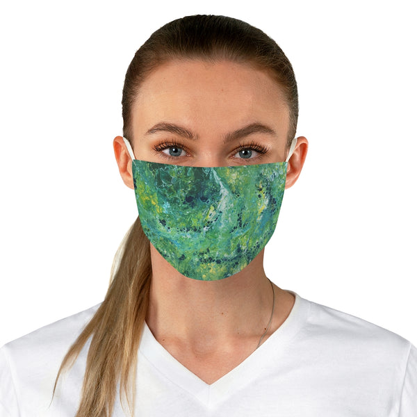Green and Yellow Fabric Face Mask