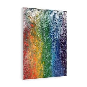Rainbow Flag Art Print on Canvas Gallery Wrap