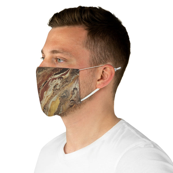 Brown & Beige Fabric Face Mask