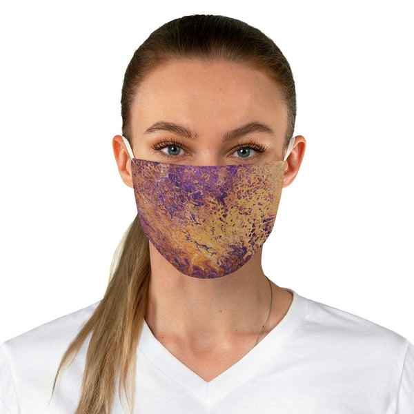 Orange and Purple Fabric Face Mask