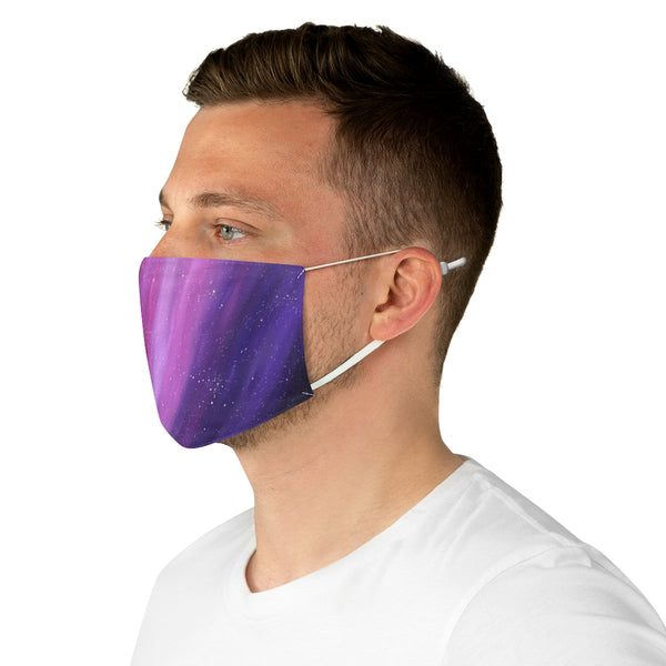 Pink and Purple Aurora Fabric Face Mask