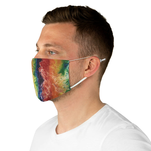 Colorful Rainbow Fabric Face Mask, LGBTQ Art