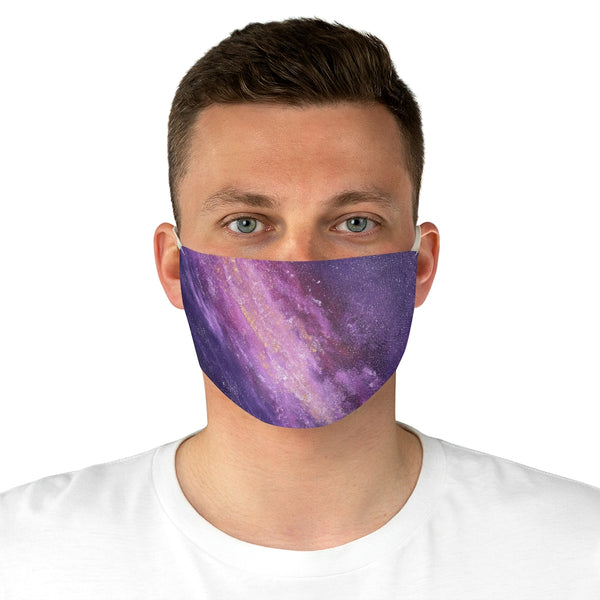 Pink and Purple Galaxy Stars Fabric Face Mask