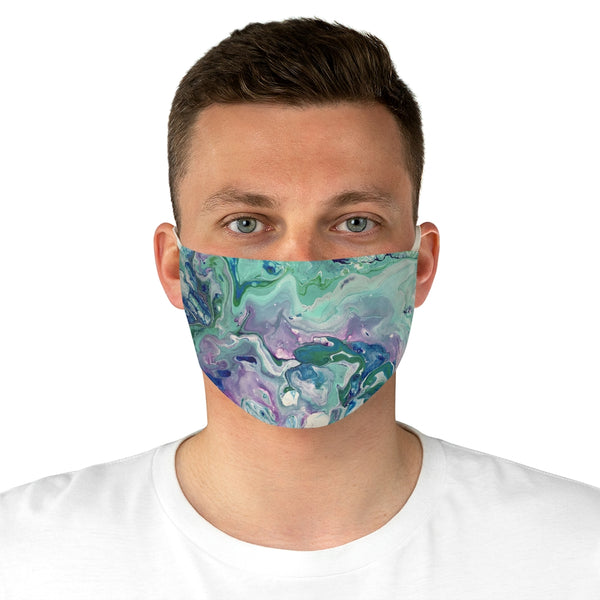 Green and Pink Fabric Face Mask
