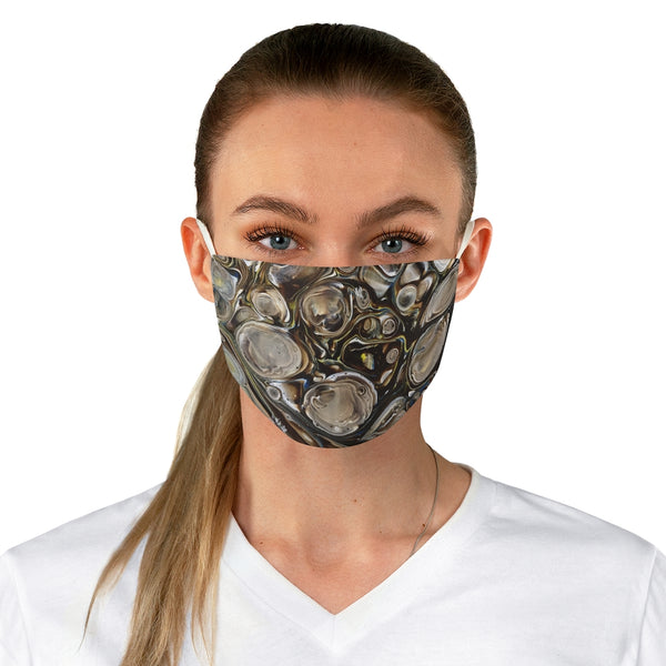 Brown and Beige Sky Fabric Face Mask