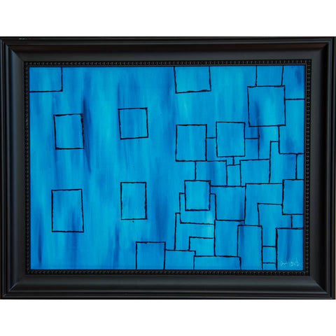 Lost Boxes Original Oil Painting, Framed