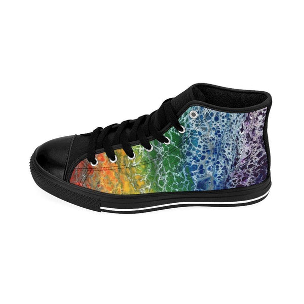 Rainbow Flag Men's High-top Sneakers Runners, LGBTQ Shoes