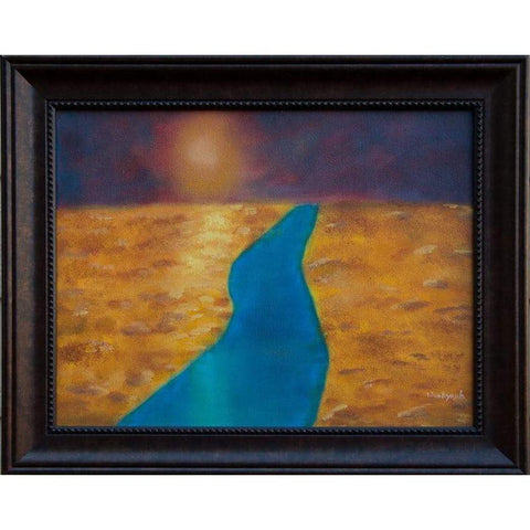 The Burning Sun Original Oil Painting, Framed