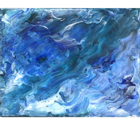 The Waves Original Fluid Art Acrylic Painting